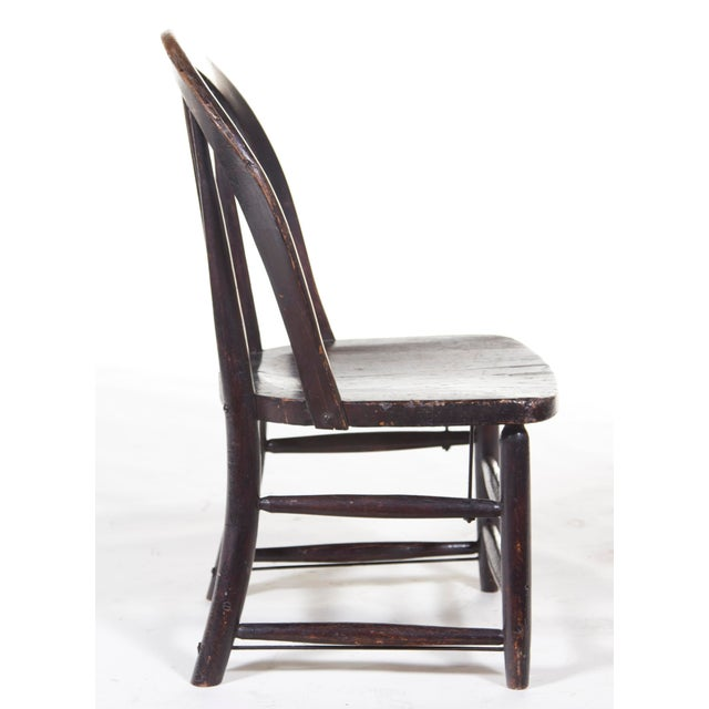 Country Black English Windsor Chair For Sale - Image 3 of 4