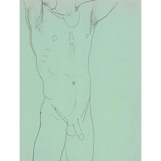 1970s Standing Male Nude by James Bone For Sale