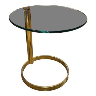 Pace Collection Leon Rosen Cantilever Brass Side Table For Sale