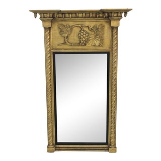 Giltwood 1860s Carved Neoclassical Mirror For Sale
