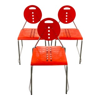 Vintage Memphis Style Chairs - Set of 3 For Sale
