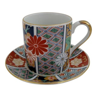Imari Porcelain Demitasse & Saucer, 2 Pieces For Sale