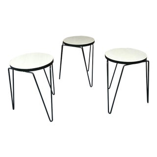 Florence Knoll Stacking Stools - Set of 3 For Sale