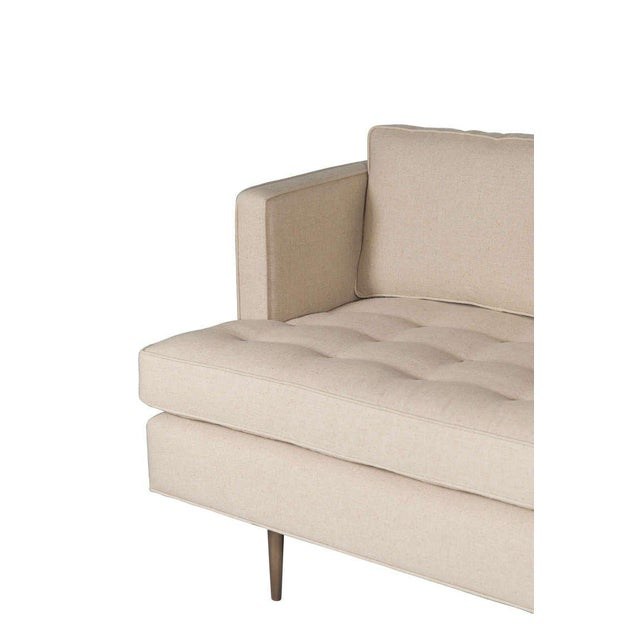 Customizable Brown Tufted Sofa For Sale In New York - Image 6 of 6