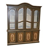 Image of Vintage Italian Drexel Two Piece China Cabinet For Sale