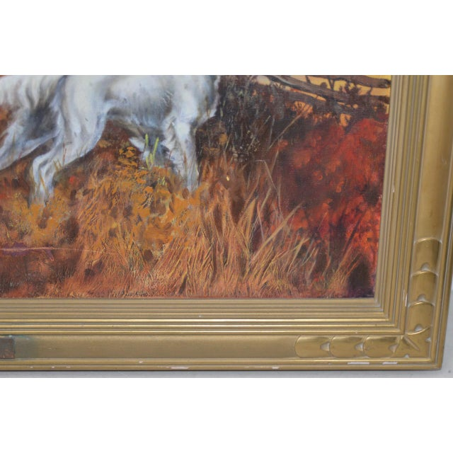 """1940s John Lawrence Murray """"The Hunt"""" Original Oil Painting C.1941 For Sale - Image 5 of 9"""