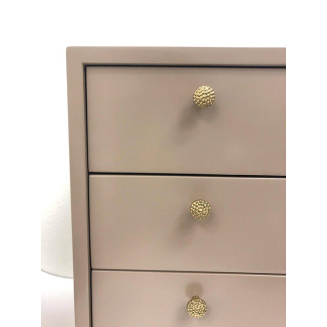 Lacquered and Brass Nightstand by Steve Chase For Sale In Palm Springs - Image 6 of 9