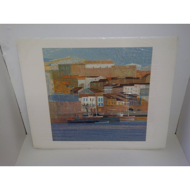 Peniscola II -- By Andre Bourrie -- Limited Edition Numbered Print -- 227/275 Lithograph / Print -- Good Condition (The...