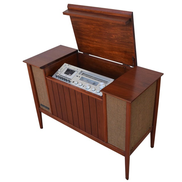 Here Is A Stunning Fully Restored 1960s General Electric Stereo Console Perfect For Your Modern Interior Danish Vintage Mid Century