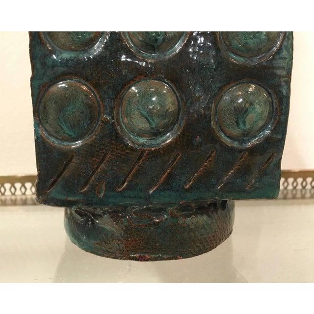 Mid Century Abstract Glazed Pottery Vase - Image 6 of 7