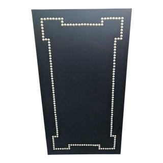 Geometric Nail Head Black Cork Board