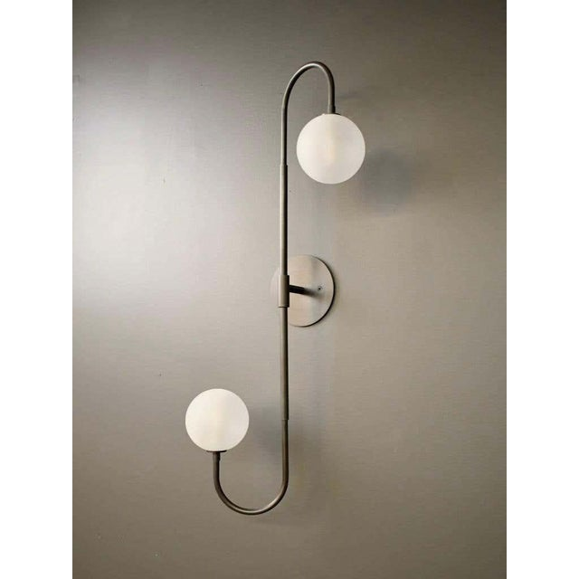 PIEGA wall lamp or flushmount ceiling fixture by Blueprint Lighting, 2020. An elegant study in clean lines and graceful...