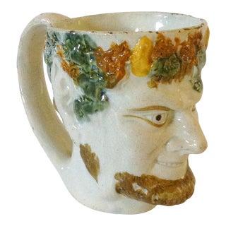 Italian Majolica Pan Mug For Sale