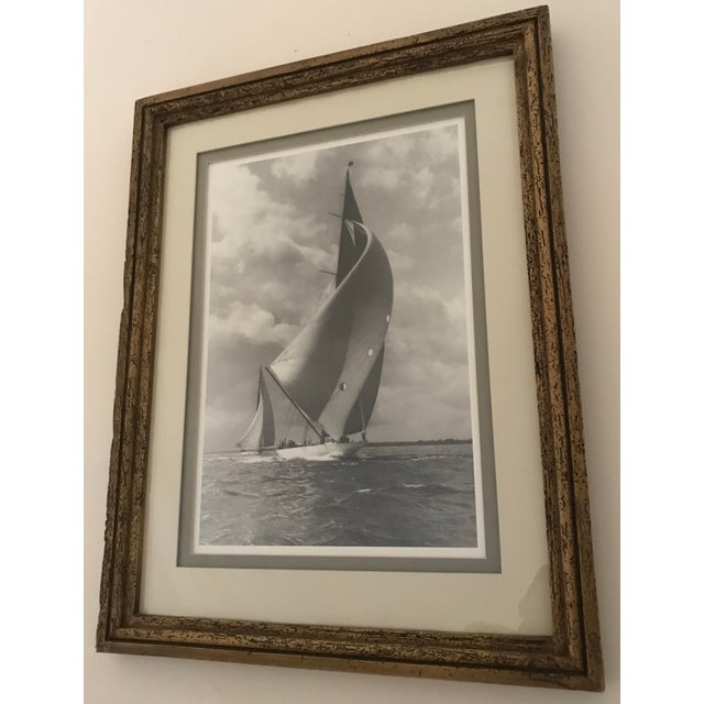 """Framed and Double Shadow Mount Matted """"Candida"""" Black & White Prints From 1923 & The """"Velsheda"""" From 1943 - a Pair For Sale - Image 10 of 13"""