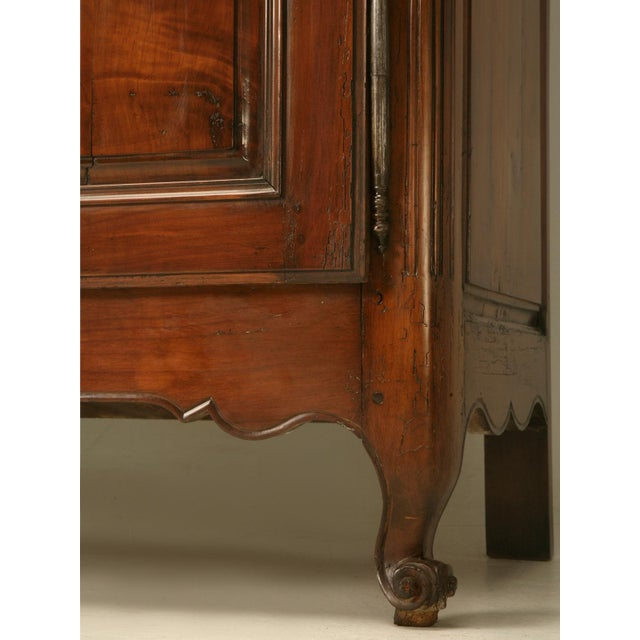 Circa 1800s French Louis XV Style Cherry Wood Armoire - Image 10 of 10
