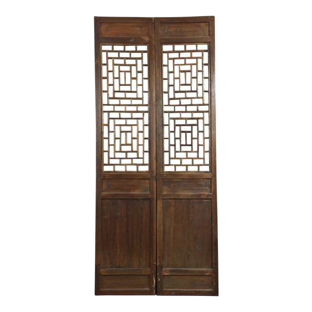 Chinese Antique Screens- a Pair For Sale