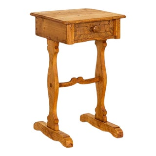 Antique Small Side Table Nightstand From Denmark For Sale