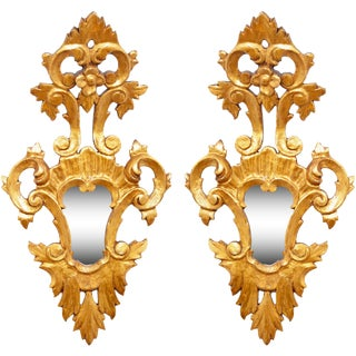 Mid 19th Century Italian Giltwood Wall Mirrors - a Pair For Sale
