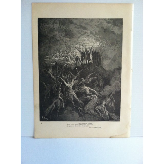 "This is an antique Paradise Lost print on paper that is titled ""From Every Band and Squared Regiment - By Place or Choice..."