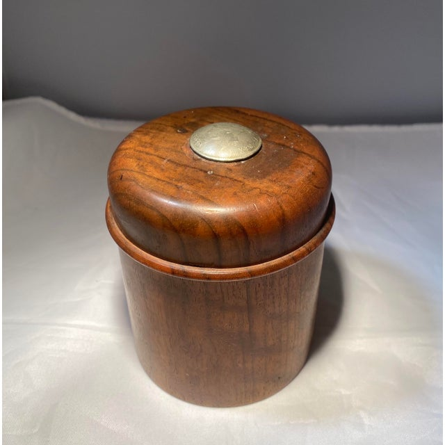 Antique English Edwardian Period Pipe Tobacco Walnut Humidor For Sale - Image 10 of 10