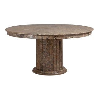 A Large Italian Circular Marble Centre Table 1980s For Sale
