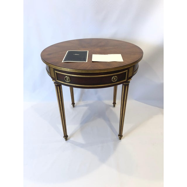Regency Round Regency Style Side Table With Bronze Mounts For Sale - Image 3 of 13