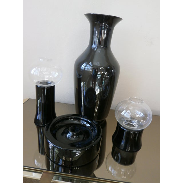 Black Pottery Decorative Objects - Set of 4 - Image 4 of 4