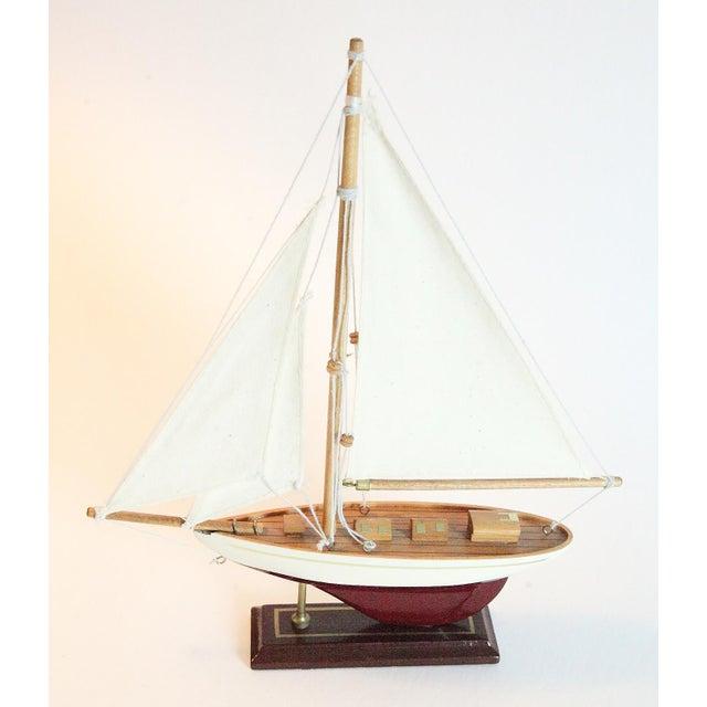 Vintage Model Sail Boat For Sale - Image 6 of 6