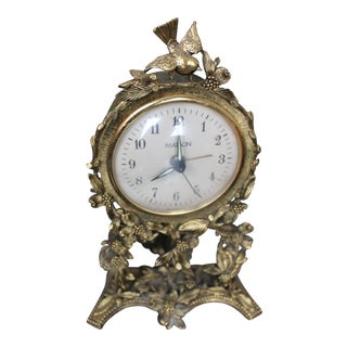Vintage Matson 24k Ormolu Gilt Clock For Sale