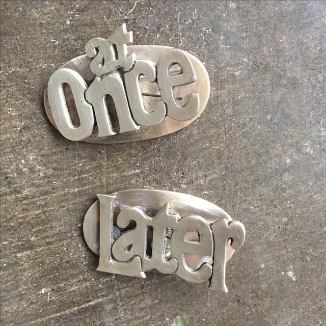 MCM Retro at Once & Later Brass Large Paper Clips - Image 2 of 8