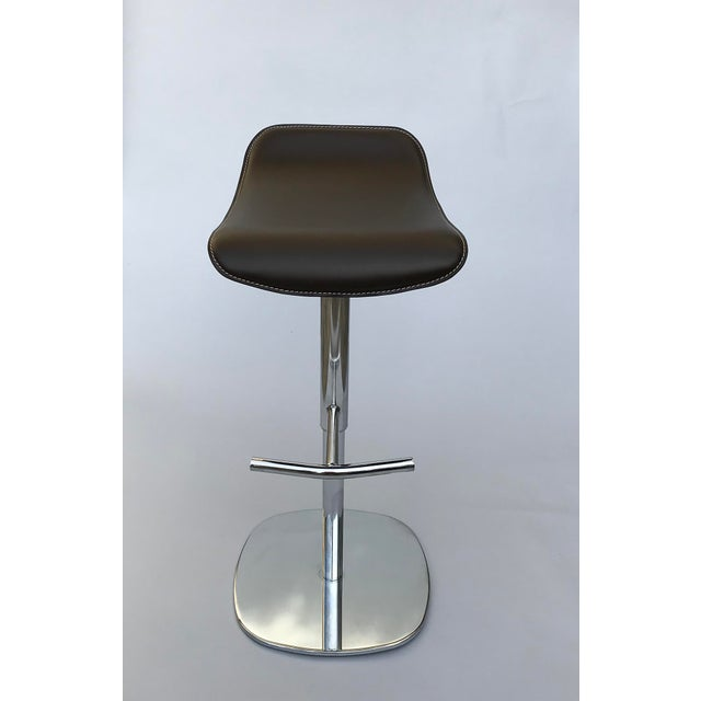 Awesome Modern Contemporary Italian Adjustable Bar Stool Ibusinesslaw Wood Chair Design Ideas Ibusinesslaworg