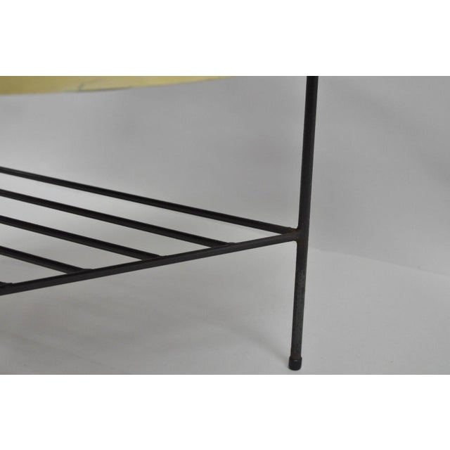1950s Mid-Century Modern Paul McCobb Style Wrought Iron Tripod Coffee Table For Sale - Image 4 of 13