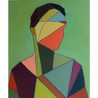 """Bill Tansey """"Male 3"""" Abstract Oil on Canvas For Sale"""