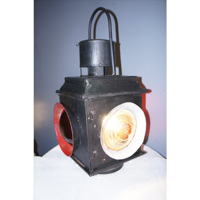 Antique Railroad Signal Light Table Lamp - Image 4 of 8