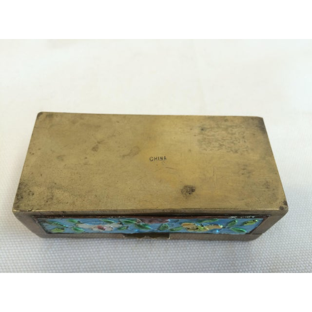 Vintage Chinese Enameled Brass Trinket Box - Image 7 of 7