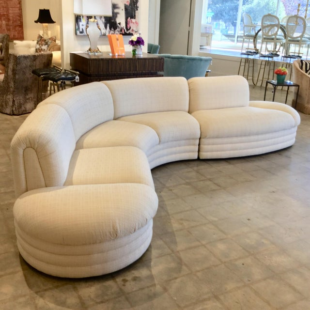 Cream Vintage 3 Piece Sectional For Sale - Image 8 of 9