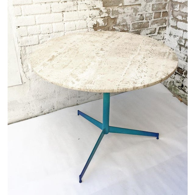 Vintage Travertine Ombre Table - Image 2 of 7