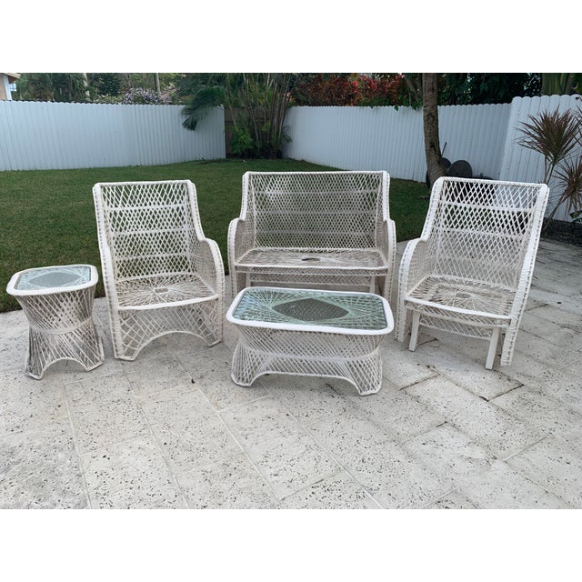 Russell Woodard Glider Loveseat & Glider Chairs Set - 5 Pieces For Sale - Image 9 of 13