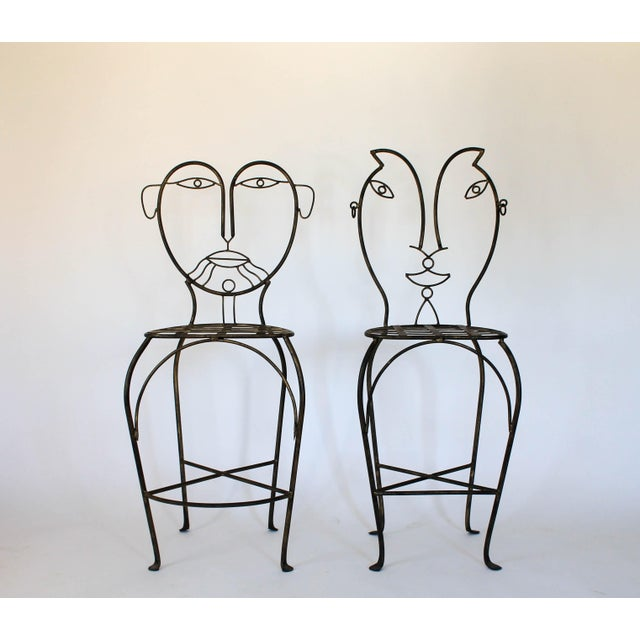 Figural Iron Chairs in the Style of John Risley For Sale - Image 13 of 13