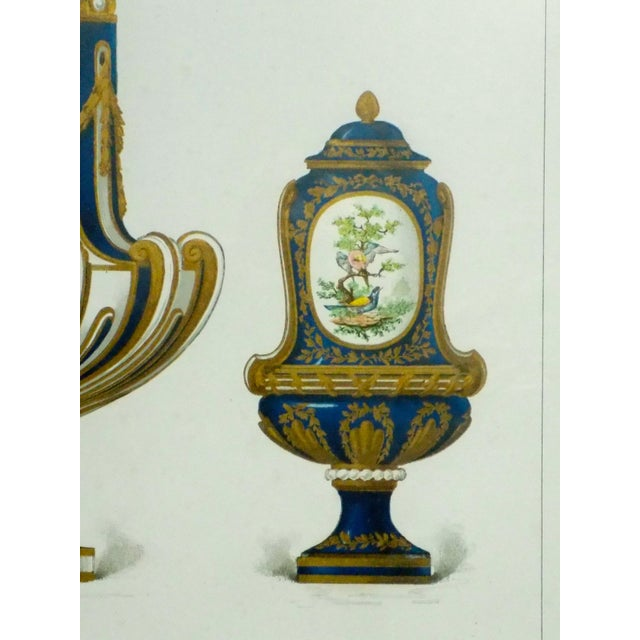 1899 Framed Porcelain Object Prints- A Pair For Sale - Image 6 of 10