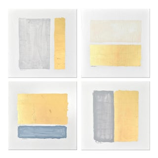 Modern Gilded Bars Tetraptych by Nicolette Capuano For Sale
