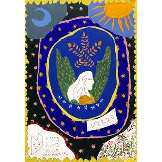 """""""Virgo Horoscope"""" Contemporary A4 Giclée Print For Sale"""