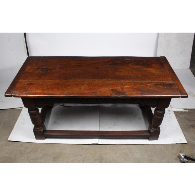 French 19th Century Antique French Oak Church Refectory Table For Sale - Image 3 of 8