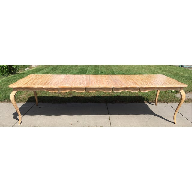 Ash 1950s French Country Style Long Dining Table For Sale - Image 7 of 13