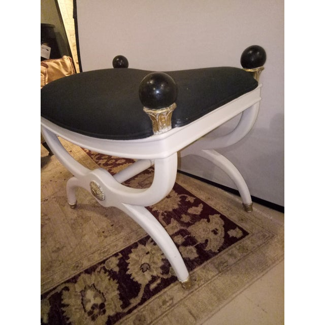 White Painted & Gilt Bench - Image 5 of 6