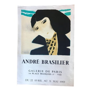 1969 Andre Brasilier Poster Printed by Mourlot