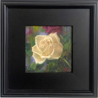 """""""Cream Rose"""" Oil Painting For Sale"""