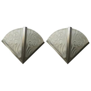 Degue French Art Deco Sconces - a Pair For Sale