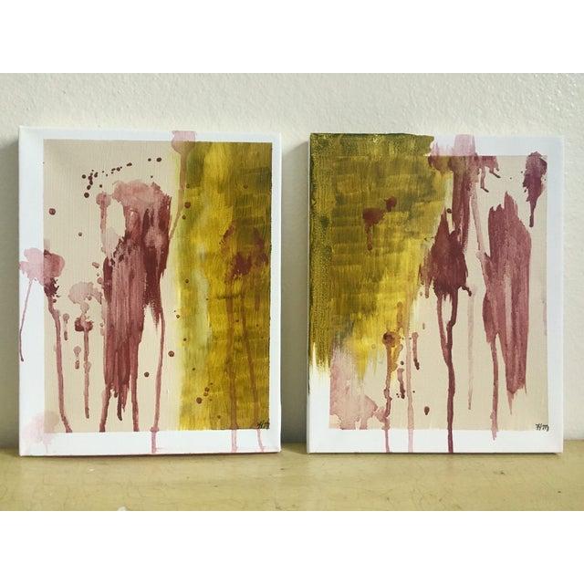 "Modern Abstract Bohemia, Original Art - Pair ""Hiraeth"" - Image 2 of 8"