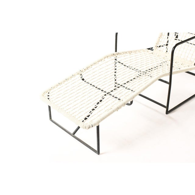 Metal Mid Century Kurt Voss Metals Bronze Patio Reclining Chaise Lounges - a Pair For Sale - Image 7 of 12